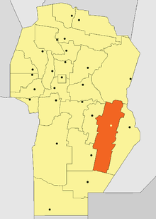 Location of Unión Department in Córdoba Province