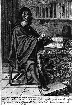 René Descartes at work.