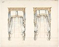 Design for Two White Curtains with Gold Fringes and a Gold Pediment MET DP807424.jpg