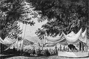 Der Freischütz - Design for the act 3 finale (original 1821 production)