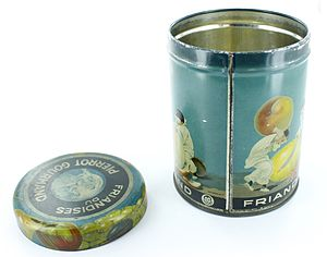 Cosmetic container - 19th century tin by Desjardin Metal Packaging