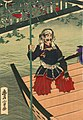 Detail, Flooded Takamatsu Castle and Shimizu Muneharu committed Seppuku by Toyonobu (cropped).jpg