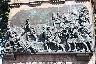 William Birnie Rhind - Detail on the Black Watch Memorial on the Mound, Edinburgh