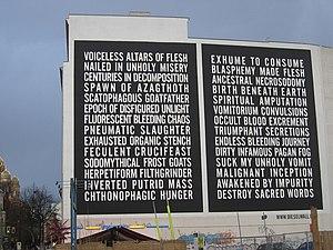 """Diesel (brand) - """"Dieselwall"""" in Berlin"""