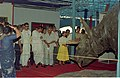 Dignitaries Watching Triceratops - Dinosaurs Alive Exhibition - Science City - Calcutta 1995-06-15 016.JPG