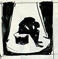 Disegno per copertina di libretto, disegno di Guido Crepax per Count Down (conto alla rovescia) (s.d.) - Archivio Storico Ricordi ICON012298.jpg