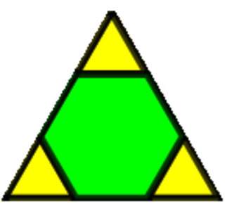 Euclidean tilings by convex regular polygons - Image: Dissected triangle 36