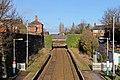 Disused platforms and road bridge, Hawarden railway station (geograph 3800179).jpg