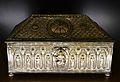 Diverses relíquies, arqueta de metall platejat, reliquiari de la catedral de València.JPG