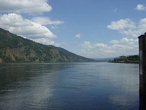 Divnogorsk - The Yenisei River as seen from the Divnogorsk town pier