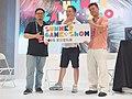 Dixon Wu, Jo Peng and Roxman Yang holding SGS logo board 20190714a.jpg