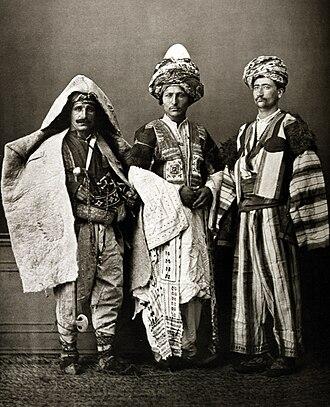 History of the Kurds - Kurdish costumes, 1873.
