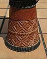 Djembe with timing belt decoration.JPG