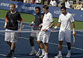 Dlouhy & Paes and Nestor & Zimonjic at the 2008 Rogers Cup.jpg