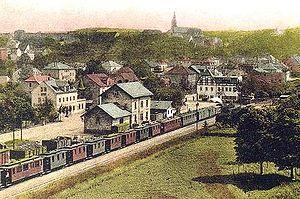 Narrow-gauge railways in Saxony - The Dohna station of the Müglitz Valley Railway