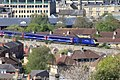 Dolemeads Viaduct - fGWR 43016 London train running wrong line.JPG