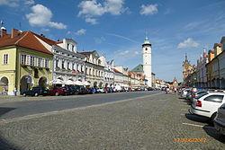 Míru Square, historical centre