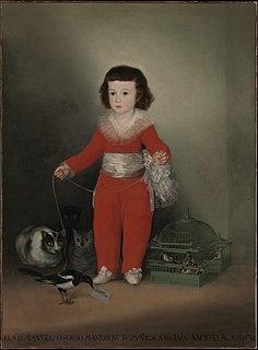 <i>Manuel Osorio Manrique de Zúñiga</i> painting by Francisco Goya