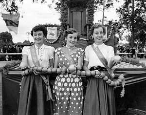 Donnybrook, Western Australia - Finalists in the 1954 Apple Queen competition from Donnybrook, Manjimup and Bridgetown
