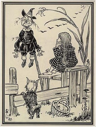 Juvenile fantasy - Illustration from first edition of The Wonderful Wizard of Oz