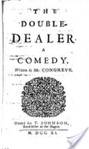 The Double Dealer - Frontispiece of the 1740 edition of The Double Dealer
