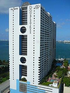 The Grand Doubletree condominium and hotel skyscraper in Miami, Florida, United States