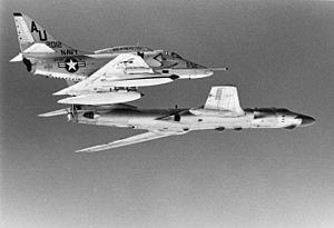 VF-45 (1963-96) - VA-45 A-4E escorts a Soviet Tu-16 c.1972