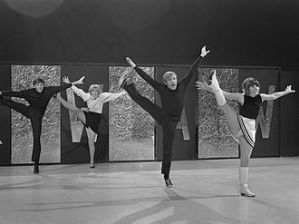 The Les Dawson Show - The Dougie Squires Dancers, pictured here in January 1968—ten years before their first appearance on The Les Dawson Show