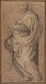 Drapery Study for a Standing Male Figure in Profile Facing Left. MET 2006.393.1.jpg