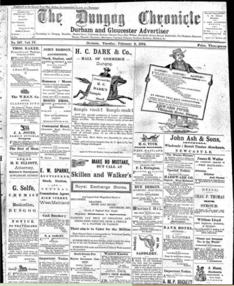 Dungog Chronicle - Dungog Chronicle cover, 6 February 1894