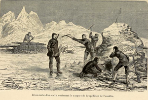 McClintock Arctic Expedition - Jean-Baptiste Henri Durand-Brager, Discovery of the cairn