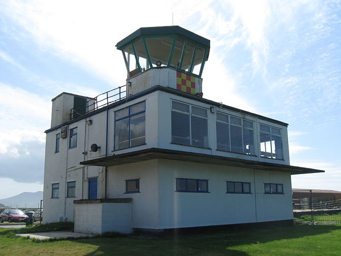 English: The Air Traffic Control Tower At Caer...