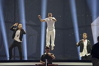 Eurosong - A MAD Show - Image: ESC2014 Greece 13