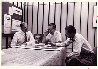 Eugene Sternberg (center) with John Scaffer and Helmut Young - 1954