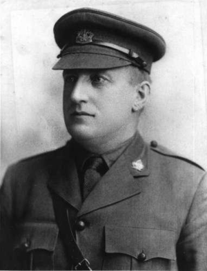 Endre Johannes Cleven - Endre Johannes Cleven Portrait photo taken in Canadian Expeditionary Force officers' uniform.