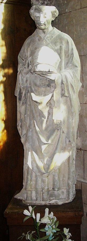 Nicasius of Rouen - Statue of Saint Nicasius in the collegiate church of Écouis