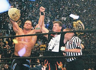 Chris Benoit - Benoit with close friend Eddie Guerrero, celebrating their respective world championships at WrestleMania XX