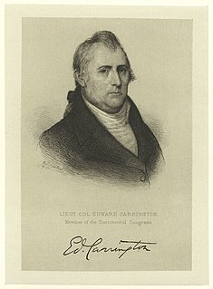 Edward Carrington American politician