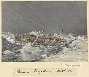 Edward Gennys Fanshawe, Storm at Mazatlan (Mexico), Octr 28th 1851.jpg