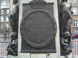 Whitechapel - Plaque remembering King Edward VII.