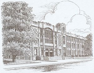 Foreman High School (Chicago) - Drawing of Foreman College and Career Academy