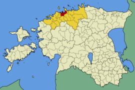 Karte von Estland, Position von  hervorgehoben