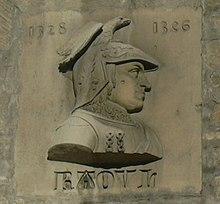 Effigie de Raoul, se trouvant sur la Porte de la Craffe, à Nancy