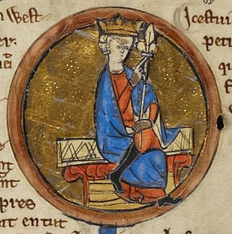 Ecgberht, King of Wessex - Depiction of Ecgberht from the Genealogical Chronicle of the English Kings, a late 13th-century manuscript in the British Library
