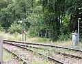 Eggesford railway station, level crossing controls, Tarka Line, South Devon, England.jpg