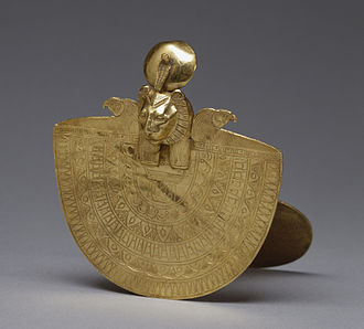 Sekhmet - This golden cultic object is called an aegis. It is devoted to Sekhmet, highlighting her solar attributes. Walters Art Museum, Baltimore.
