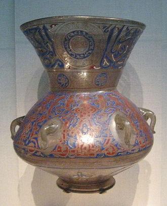 Islamic glass - Egyptian mosque lamp, 1360.