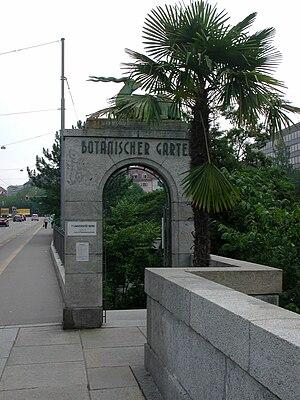 University of Bern - Image: Eingang Botanischer Garten Bern