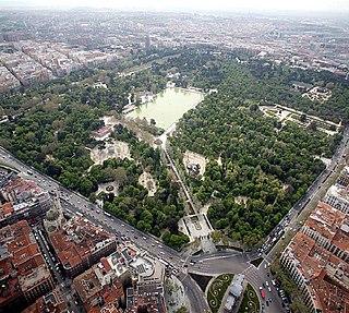 urban park in Madrid, Spain