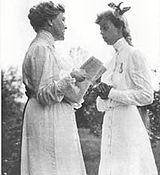 Eleanor and her future mother-in-law, Sara Delano Roosevelt Aug 1904